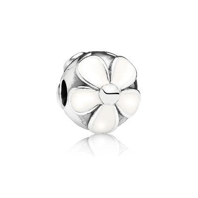 Pandora Clip Margherite Delicate Charm Originale Argento 791259EN12