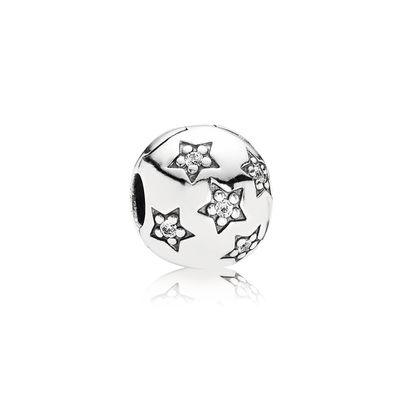 Pandora Clip Notte Stellata Charm Originale Argento 791058CZ