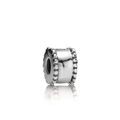 Pandora Clip Ricamata Charm Originale Argento 790267