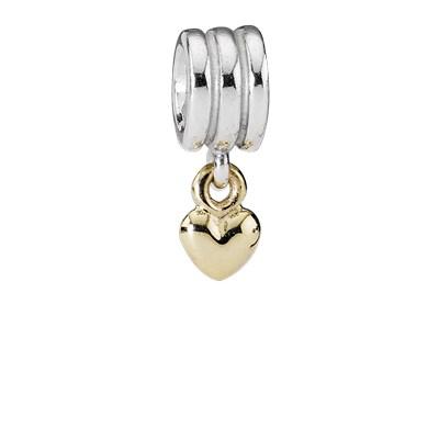 Pandora Cuore Pendente Charm Originale Oro 14k Argento 790173