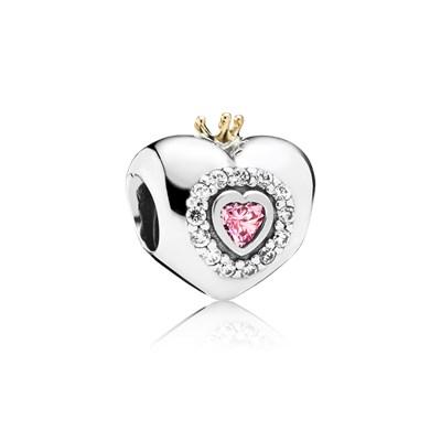 Pandora Cuore Principessa Charm Originale Oro 14k Argento 791375PCZ