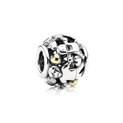 Pandora Famiglia Charm Originale Oro 14k Argento Sterling 791040