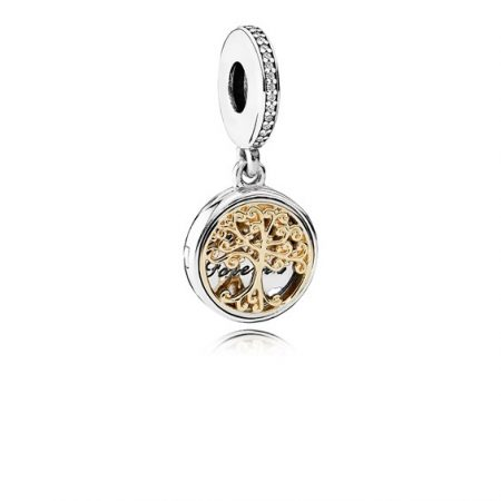 Pandora Famiglia Charm Originale Oro 14k Argento Sterling 791988CZ