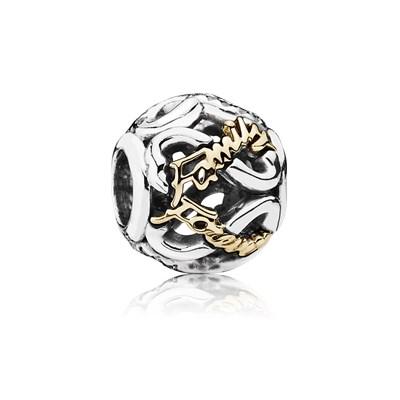 Pandora Famiglia Unita Charm Originale Oro 14k Argento 791525CZ