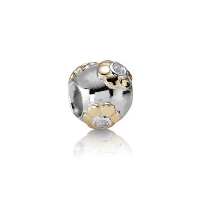Pandora Fiorellini Charm Originale Oro 14k Argento Sterling 790207CZ