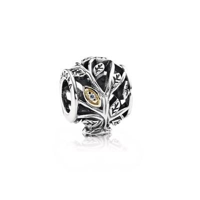 Pandora Foglie Rampicanti Charm Originale Oro 14k Argento 791205CZ