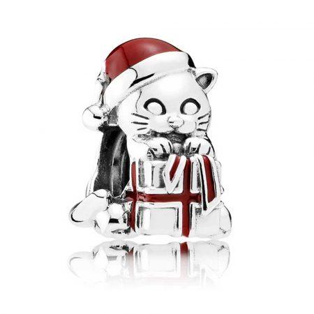 Pandora Gattino Di Natale Charm Originale Argento 792007EN39