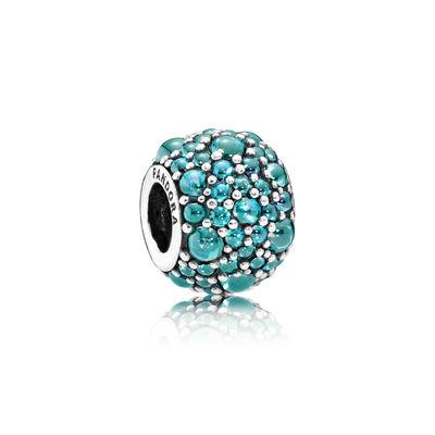 Pandora Gocce Scintillanti Color Turchese Charm Originale 791755MCZ