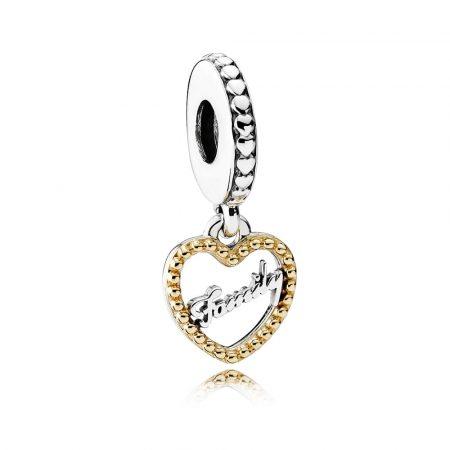 Pandora Loving Family Charm Originale Oro 14k Argento 792011