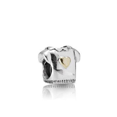 Pandora Maglietta Cuore Charm Originale Oro 14k Argento 790439
