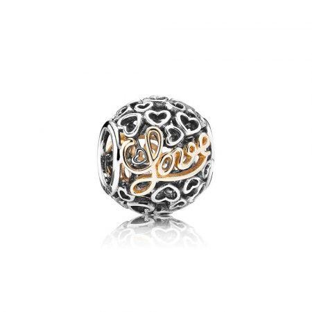 Pandora Messaggio d' Amore Charm Originale Oro 14k Argento 791425