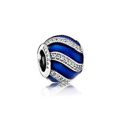 Pandora Ornamento Blu Charm Originale Argento 791991EN118