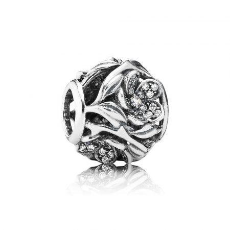 Pandora Pavè Magia Floreale Charm Originale Argento Sterling 791419CZ