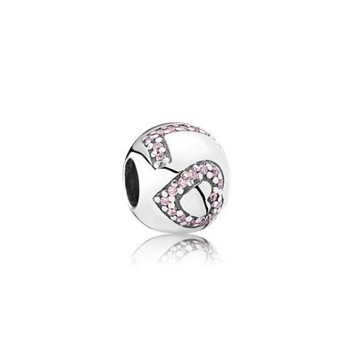 Pandora Pink Love Charm Originale Argento Sterling 791196PCZ