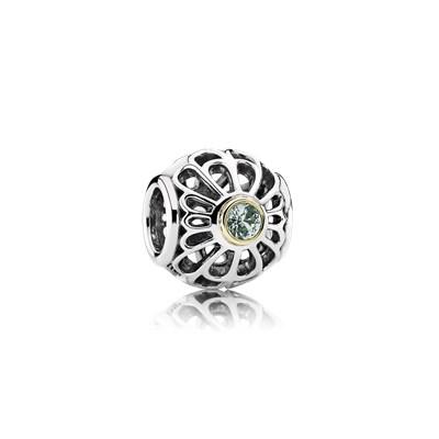 Pandora Pizzo Vintage Charm Originale Oro 14k Argento 791173SSG