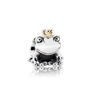 Pandora Principe Ranocchio Charm Originale Oro 14k Argento 791118