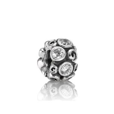 Pandora Riccioli e Luci Charm Originale Argento Sterling 790330CZ