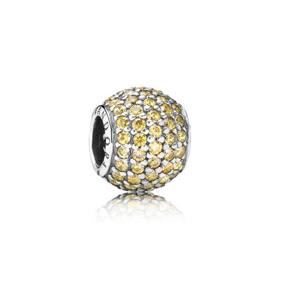 Pandora Sfera in Pavé Color Oro Charm Originale 791051FCZ