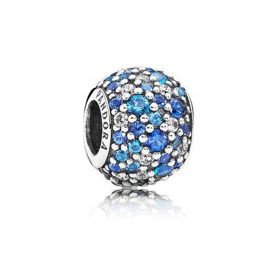 Pandora Sfera in Pavé Mosaico Blu Cielo Originale 791261NSBMX