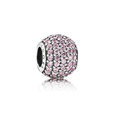 Pandora Sfera in Pavé Rosa Charm Originale Argento 791051PCZ
