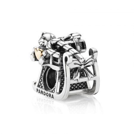 Pandora Slitta Babbo Natale Charm Originale Oro 14k Argento 791207