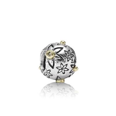 Pandora Stelle di Natale Charm Originale Oro 14k Argento 790399DN