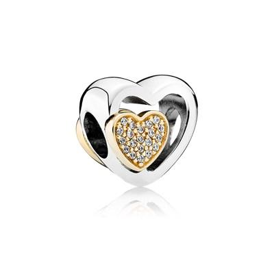 Pandora Uniti per Sempre Charm Originale Oro 14k Argento 791806CZ
