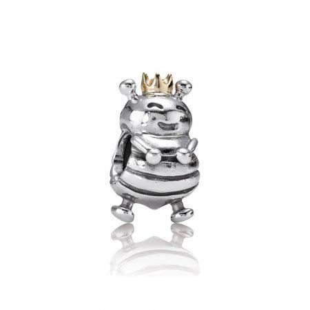 Pandora Charm Ape Regina Originale Argento e oro 14ct 790227