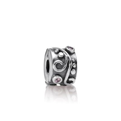 Pandora Clip Ondine Rosa Originale Argento Zirconi 790380PCZ