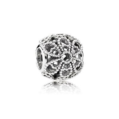 Pandora Charm Openwork Rose Originale Argento Sterling 791282