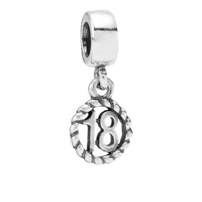 Pandora Charm Pendente 18 Originale Argento Sterling 790495