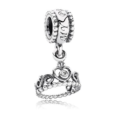Pandora Charm Pendente Tiara Principessa Originale Argento 791117CZ