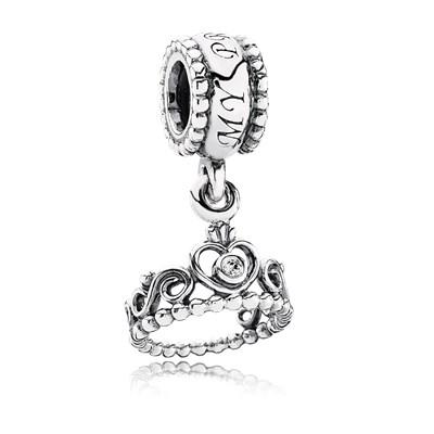 Pandora Charm Pendente Tiara Principessa Originale Argento