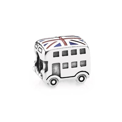Pandora Charm Union Jack Bus Originale Argento Sterling 791049