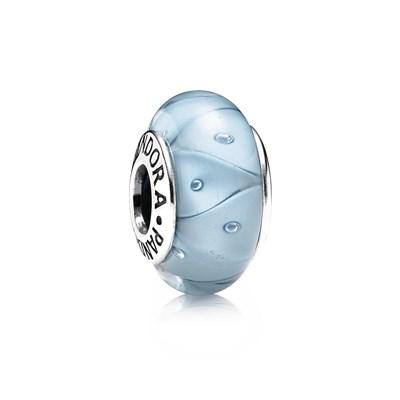 Pandora Zig Zag Azzurro Originale Vetro Murano 790924