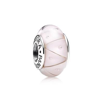 Pandora Zig Zag Rosa Originale Vetro Murano 790922