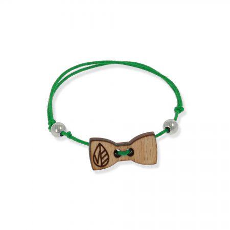 Braccialetto Ecos Jewels Spritz Legno Papillon Verde FBPVP