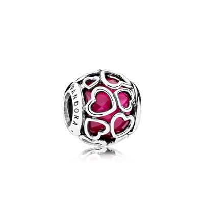 Pandora Charm Apri Il Tuo Cuore Rosso Ciliegia Originale 792036NCC