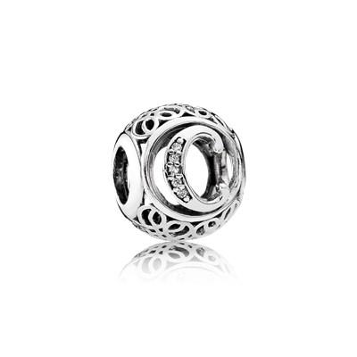 Pandora Charm C Vintage Originale Argento Sterling 791847CZ