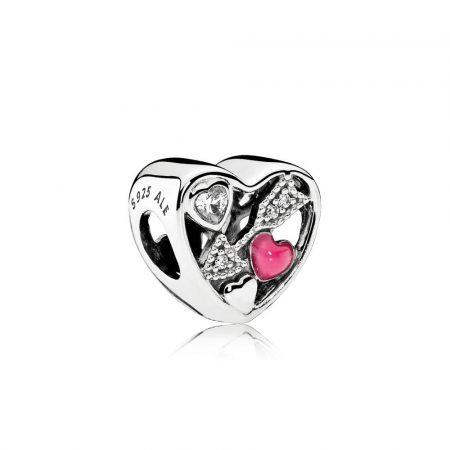 Pandora Charm Colpito dall'Amore Originale Argento 792039CZ