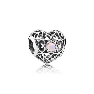 Pandora Charm Cuore Ottobre Originale Argento Sterling 791784NOP