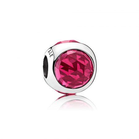 Pandora Charm Goccia Scintillante Rosso Ciliegia Originale Argento 792095NCC