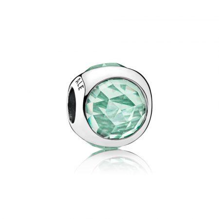 Pandora Charm Goccia Scintillante Verde Ghiaccio Originale Argento 792095NIC