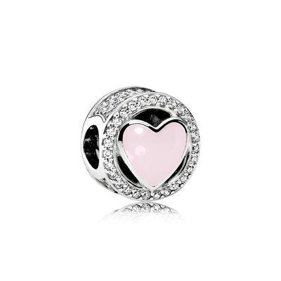 Pandora Charm Meraviglioso Amore Rosa Originale Argento 792034CZ