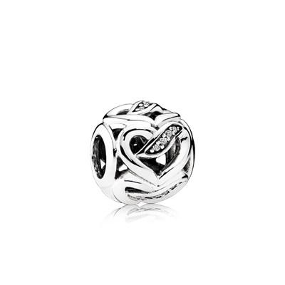 Pandora Charm Nastri d'Amore Originale Argento Sterling 792046CZ