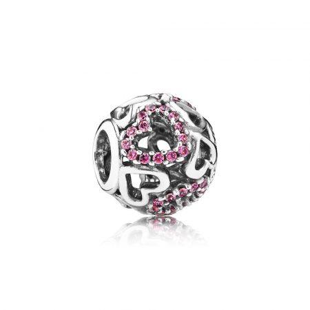 Pandora Charm Openwork Fantasia Cuori Argento Sterling 791424CZS