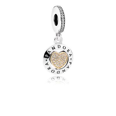 Pandora Charm Pendente Cuore Forever Pandora Originale Argento 792082CZ