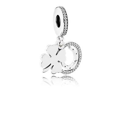 Pandora Charm Pendente Giorno Fortunato Originale Argento Sterling 792089CZ