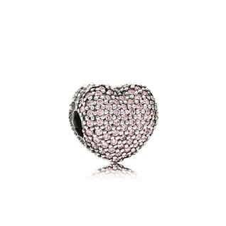 Pandora Clip Apri il Mio Cuore Rosa Originale Argento 791427PCZ
