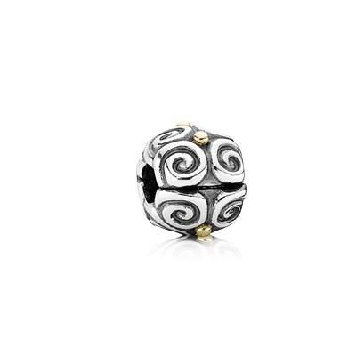 Pandora Clip Flussi Originale Argento Sterling Oro 790594